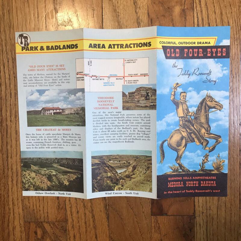 Travel Brochure Teddy Roosevelt Story Outdoors Musical Drama North Dakota Vintag