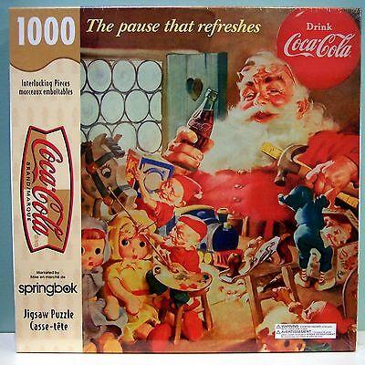 1000 PIECE COCA-COLA THE PAUSE THAT REFRESHES SPRINGBOK HALLMARK JIG-SAW PUZZLE