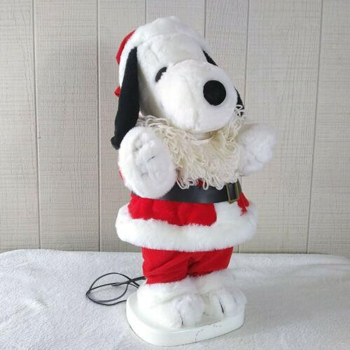 Vintage Animated Santa Snoopy Plush Figure Santa