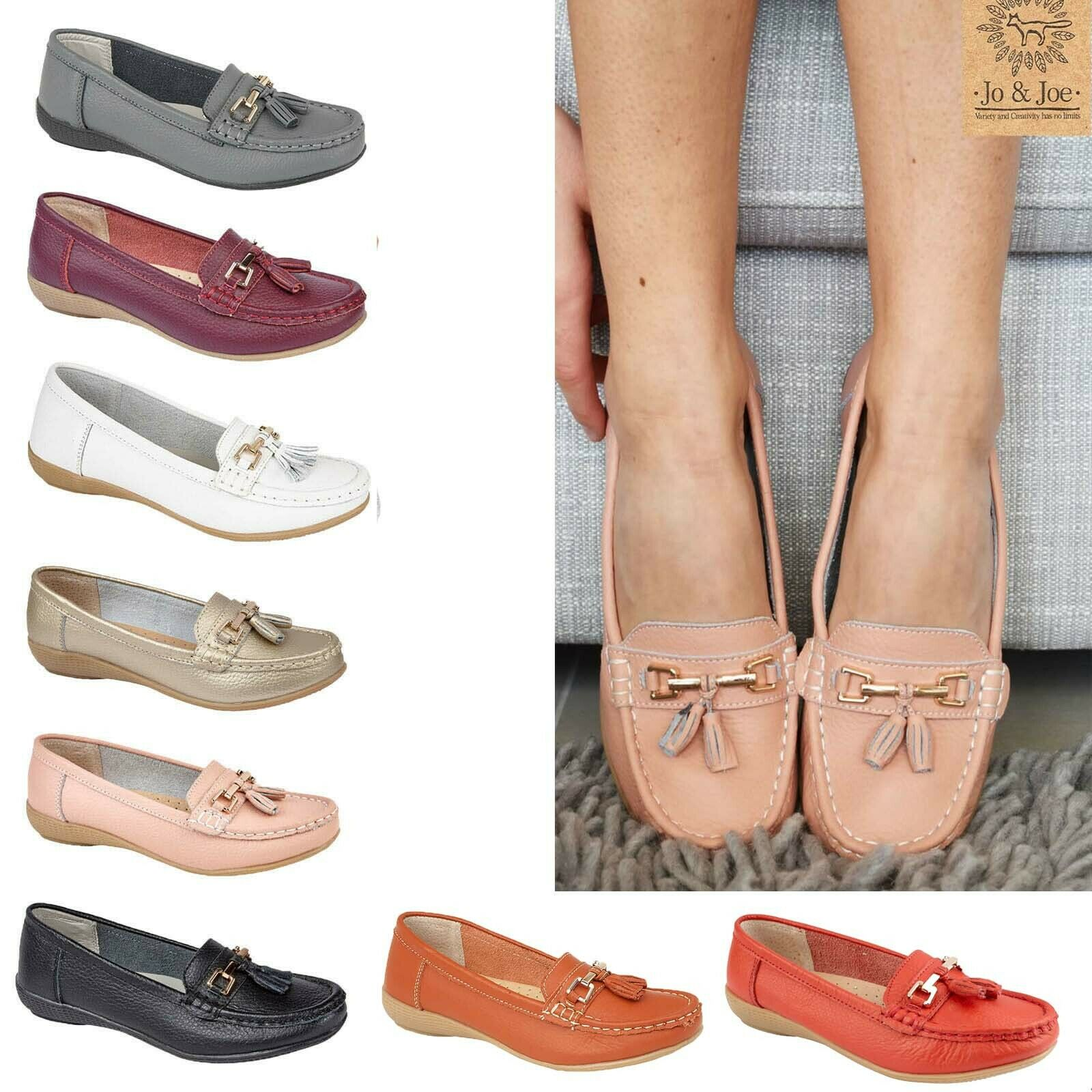 Ladies Pumps Loafers Womens Flat Casual Comfort Office Work School Shoes Sz 3-8