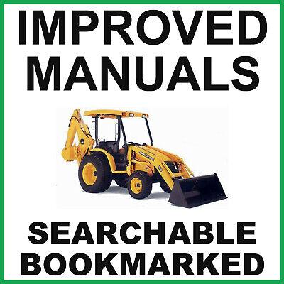 John Deere 110 Tractor Loader Backhoe Service Technical Manual Tm1987 On A Cd
