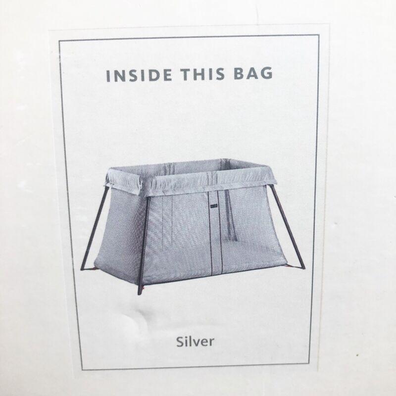 BabyBjorn Travel Crib Light - Silver 040248US New Damaged See Pics