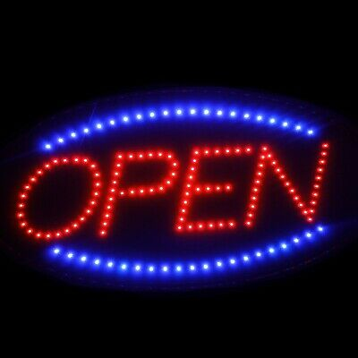 Ultra Bright Led Neon Light Animated Motion With Onoff Open Business Sign Oval