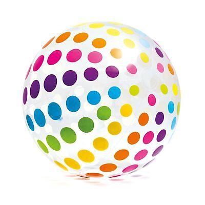 Intex Jumbo Inflatable Glossy Big Polka-Dot Colorful 72 Inch Giant Beach Ball