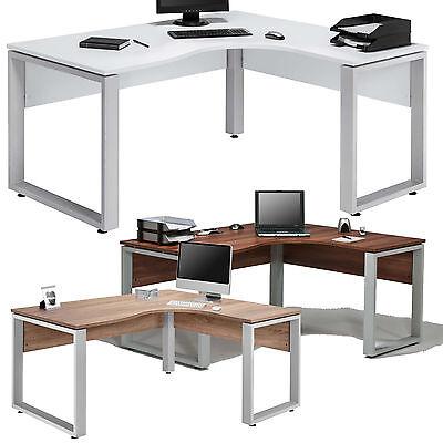 Eckcomputertisch Eckschreibtisch Schreibtisch Bürotisch Weiss Sonoma Eiche Buche ()
