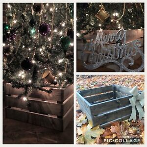 Rustic Christmas Tree Crate