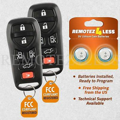 2 For 2004 2005 2006 2007 2008 2009 Nissan Quest 6b Keyless Entry Remote Key Fob