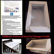 EUC Childcare Universal 2in1 Cradle ChangerRRP$120 (Add to Cot) White Usher Bunbury Area Preview