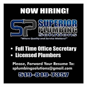 Licensed plumber and apprentice