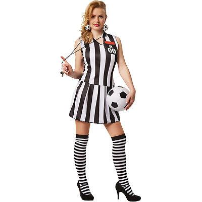Frauenkostüm sexy Schiedsrichterin Fußball Trickot Referee Schiri Kostüm - Sexy Fußball Kostüm
