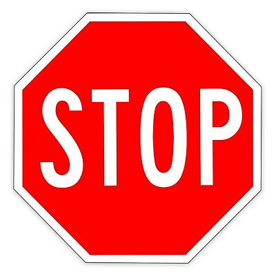 STOP SIGN Parking Traffic Road Street Aluminum Metal 12x12 Sign