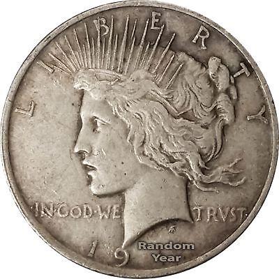 Random Year 1922-1926 $1 Peace Silver Dollar Average Circulated