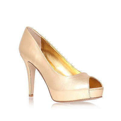 CAMYA NINE WEST LEATHER GOLD WOMENS LADIES SHOE