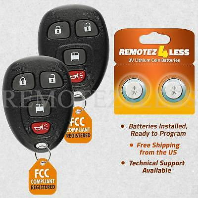 2 For 2013 2014 2015 2016 2017 Chevrolet Express Keyless Entry Remote Key Fob