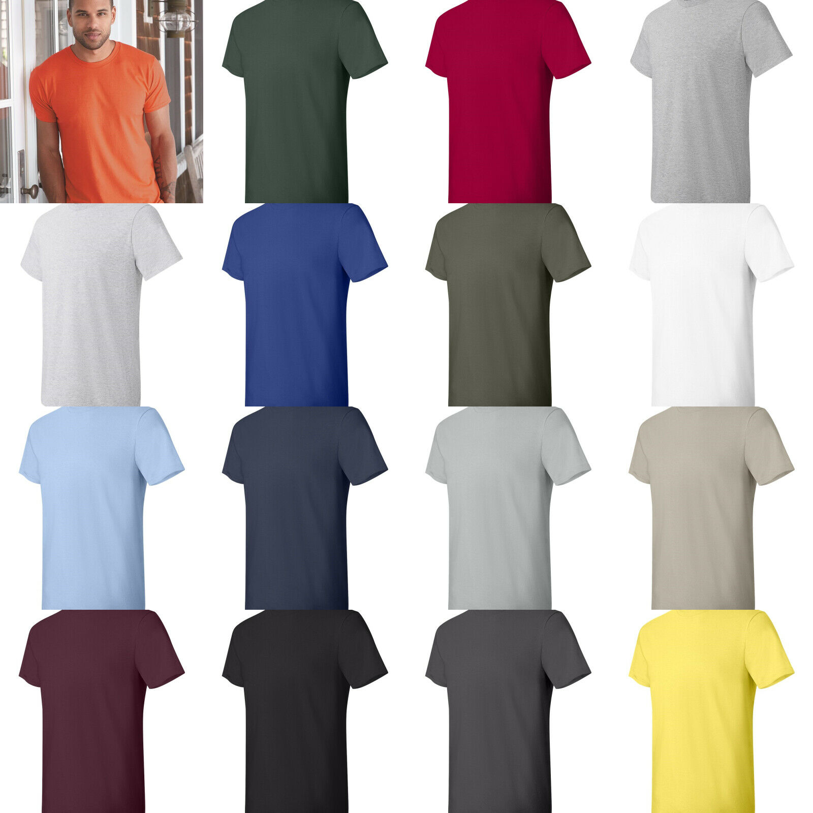 Hanes 4980 Men's Lightweight Nano-Tee T-Shirt