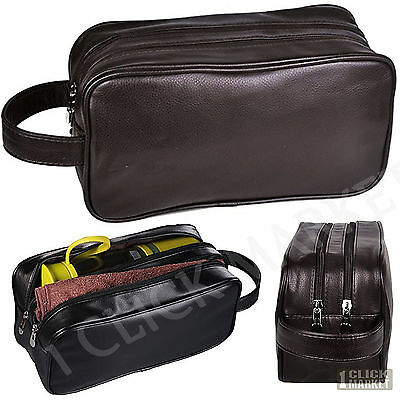 Leather Toiletry Bag Lady Supply Travel Organizer Man Shaving Accessory Dopp Kit
