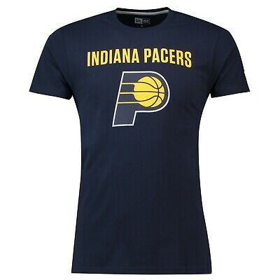 F31 Mens Small Indiana Pacers New Era Team Logo T-Shirt
