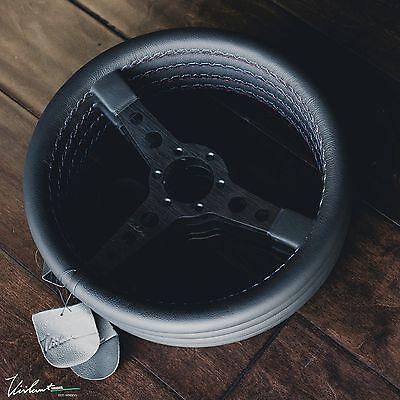 VIILANTE CORSA 350 STEERING WHEEL GENUINE LEATHER TRI-COLOR STITCH *BMW* E30 M3 for sale  Santa Fe Springs