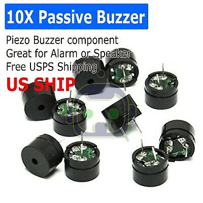 10pcs 5v Passive Buzzer Magnetic Long Continous Beep Tone Us Shipping