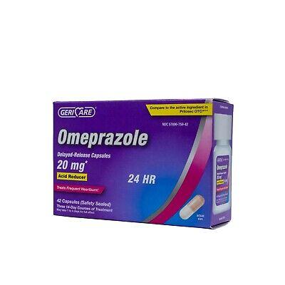 Geri-Care Omeprazole Delayed Release Capsules 20 mg, Acid Reducer (42 CAPSULES)