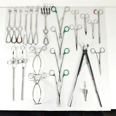 Mixed Lot Surgical Instruments Sklar Vesocclude Jarit V. Mueller Depuy