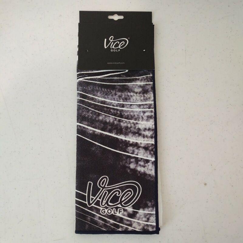 Vice Shine Golf Towel Navy Blue 2020 - Durable Waffle Microfiber *NEW*