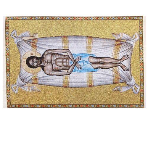 "Tapestry Epitaphios Threnos, Plaschanitsa Nassh Icons on Winding Sheets 11 3/4"""