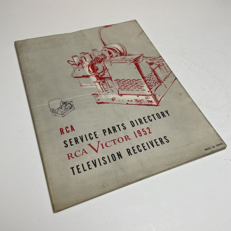 RCA Service Parts Directory Television Receivers 1952 Manual