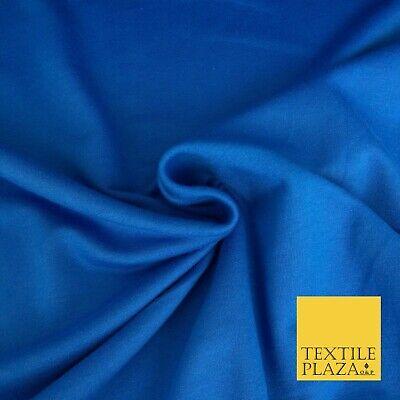 Premium COBALT BLUE Plain French 100% Cotton Terry Jersey 70