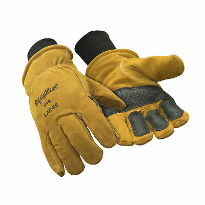 RefrigiWear Warm Double Insulated Cowhide Leather Work Gloves with Abrasion (Insulated Leather Work Gloves)