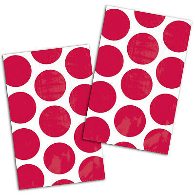 10 Polka Dot Spots APPLE RED Treat Loot Party Sweet Candy Paper Bags