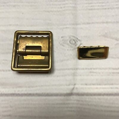 USMC Marine Corps Military (US UTC) Brass Open Faced Belt Buckle And Tip (Marine Corps Belt)
