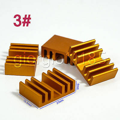 Us Stock 10pcs 20 X 13.5 X 6mm Heat Sink Cooling Aluminum Heatsink Cpu Ic Led