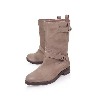 CARVELA LEATHER BOOTS  .. NUBUCK  .. CHUNKY / UK 3  EU 36..DISCOUNT IN STORE - Discount Party Store