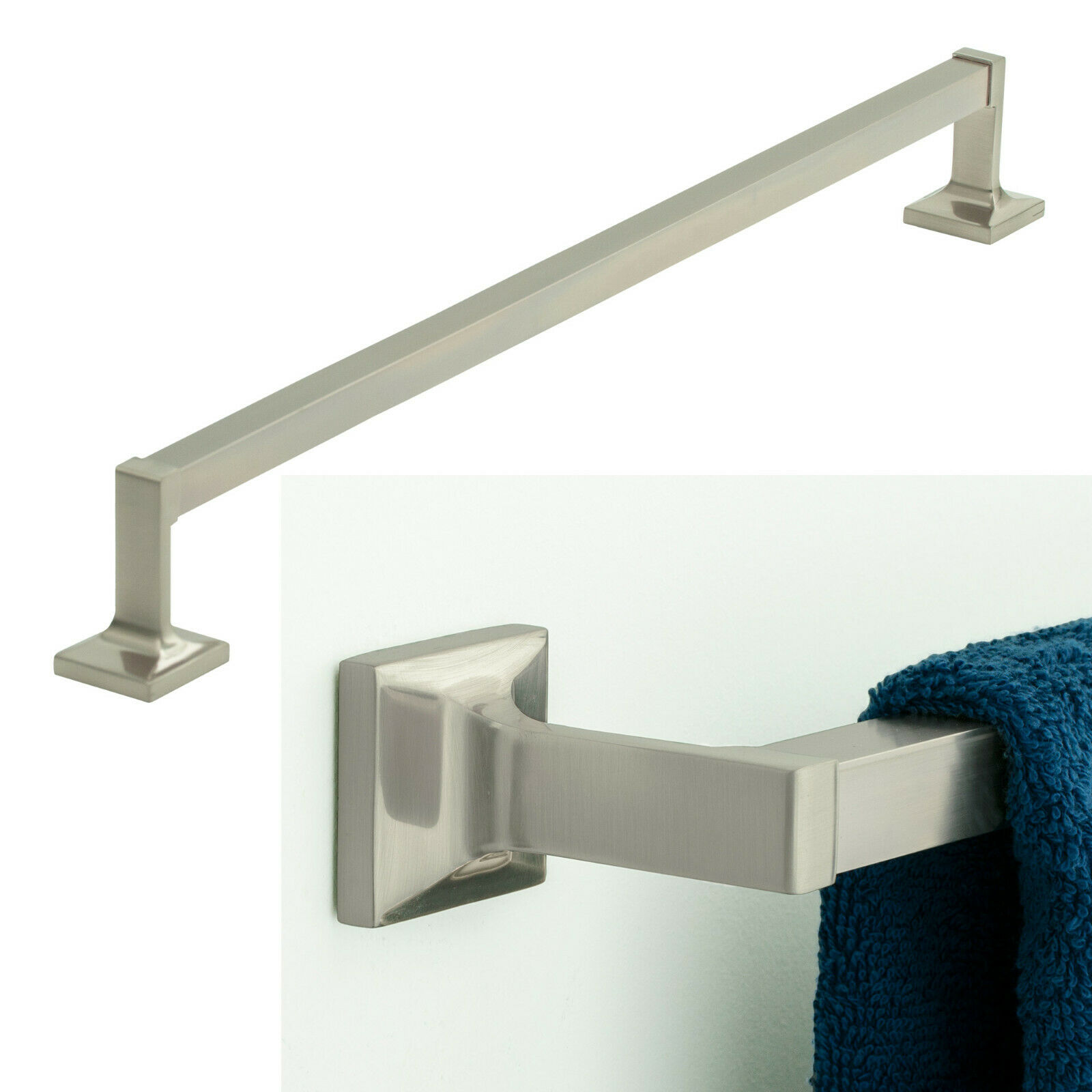 Redwood Series 24″ Towel Bar Bath Hardware Bathroom Accessory, Brushed Nickel Bath