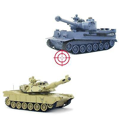 Battle-Set: 2 x RC ferngesteuerter Panzer German Tiger I vs. M1A2 Abrams, Tank