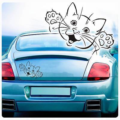 Katze Kätzchen Autoaufkleber Auto Aufkleber Sticker Tattoo Pfoten A2065