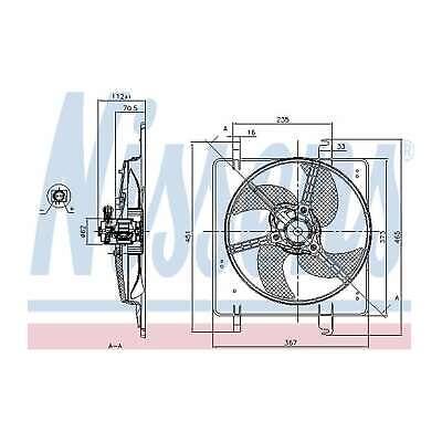 Genuine Nissens Engine Cooling Radiator Fan - 85027