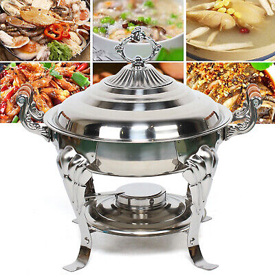 Classic Chafing Dish Half Round Stainless Steel Buffet Wedding Chafer Catering