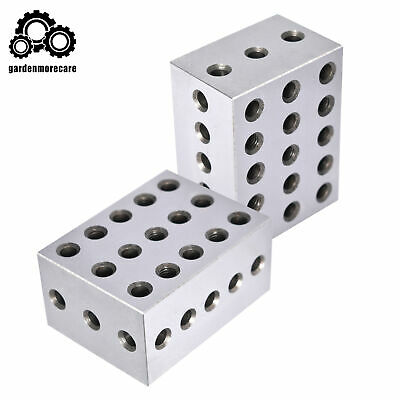 1 Matched Pair Ultra Precision 2-3-4 Blocks 23 Holes .0003 Precision Machinist