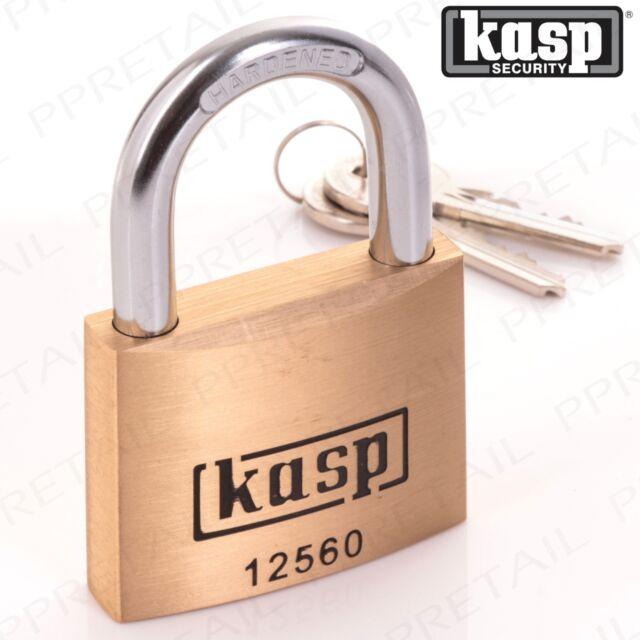 KASP RATED 10 PREMIUM PADLOCK 60mm SOLID BRASS KEYED ALIKE 125 Series K12560A3