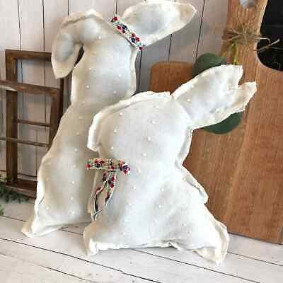 Fabric Bunnies - Easter Spring Home Decor