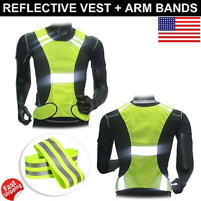Honesty 2019 Universal High Brightness Safe Reflective Vest Belt Night Running Jogging Biking Riding Elastic Safety Vest Back To Search Resultsapparel Accessories
