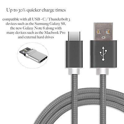 Anti Fray USB Type C to USB 2.0 Cable | 1m Nylon...