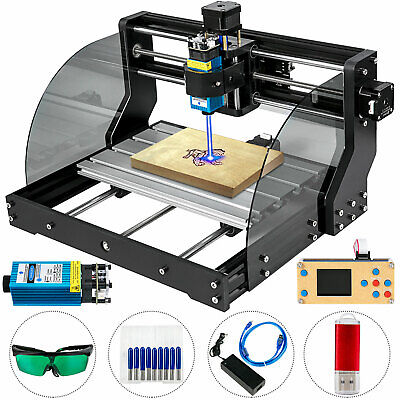 Cnc 3018 Pro Machine Router 3 Axis Engraving Pcb Wood Diy Mill500mw Laser Head