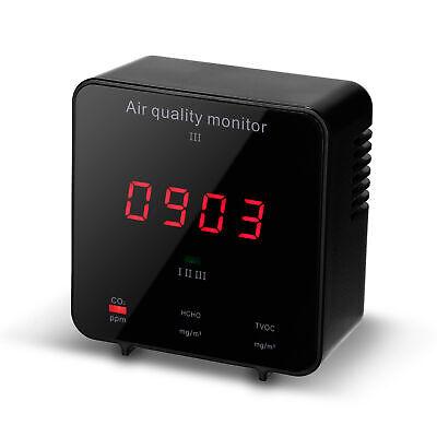 Carbon Dioxide Meter Co2 Hcho Tvoc Aqi Detector Air Quality Monitor Tester I3k5