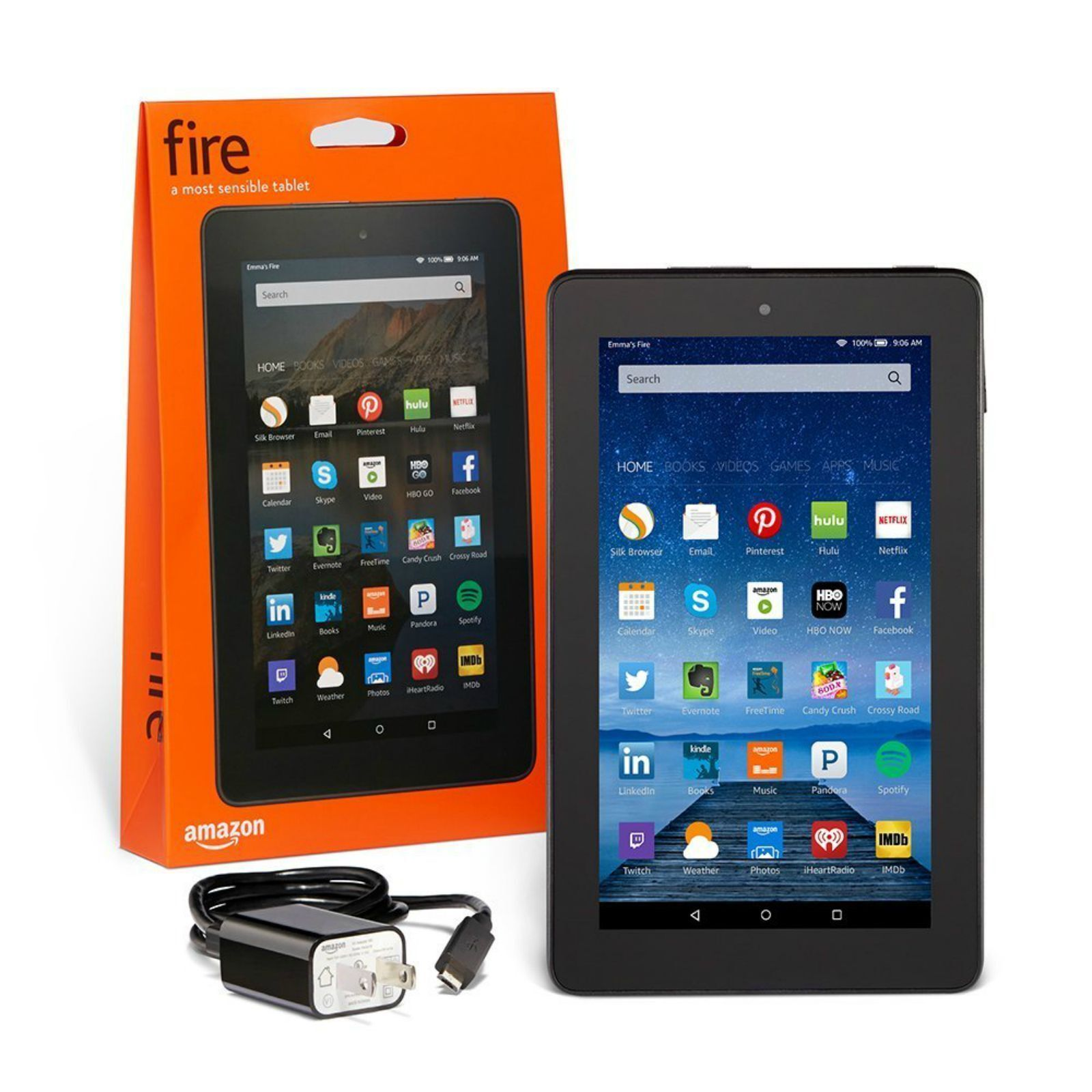 Amazon Kindle Fire 7 inch IPS 8 GB Black w/ Front & Rear ... - photo#32