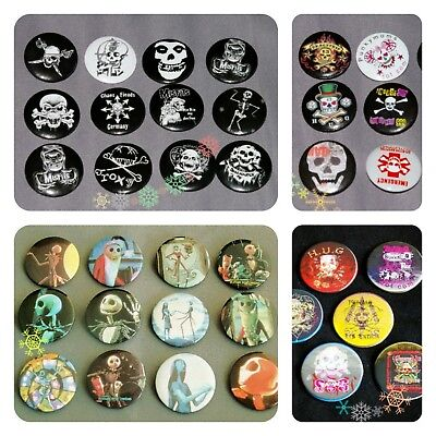 Party Bag Filler HALLOWEEN BADGE pins goth skull punk nightmare before christmas](Halloween Party Bag Fillers)