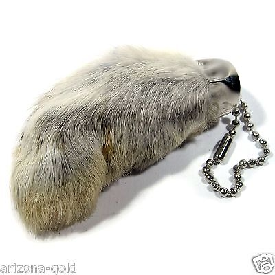 Real Rabbit Foot Lucky Keychain Vraie Patte de Lapin Chanceuse Good Luck Charm