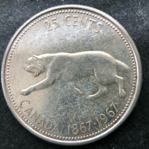 1967 Canada Silver 25 Cents Quarter-dollar